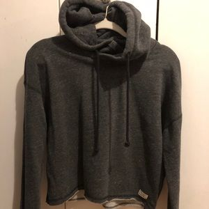 Gray Abercrombie Cropped Hoodie